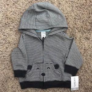 Carter's NWT striped teddy hoodie